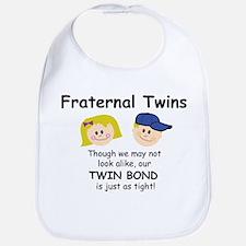 Fraternal Twins Bib