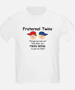 Fraternal Twin Kids T-Shirt