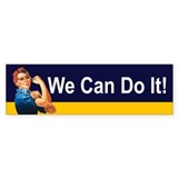Rosie the riveter Bumper Stickers