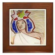 Aztec Feathers Framed Tile