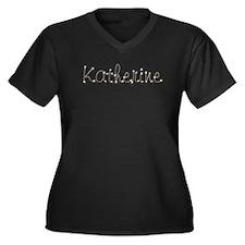 Katherine Spark Women's Plus Size V-Neck Dark T-Sh