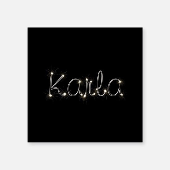 "Karla Spark Square Sticker 3"" x 3"""