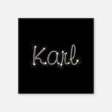 "Karl Spark Square Sticker 3"" x 3"""