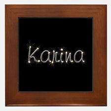 Karina Spark Framed Tile