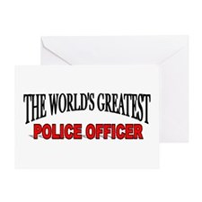 The Worlds Greatest Police Officer Greeting Cards