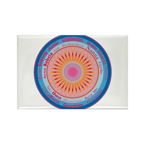 Grandmother World Rectangle Magnet