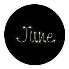 June Spark Round Car Magnet