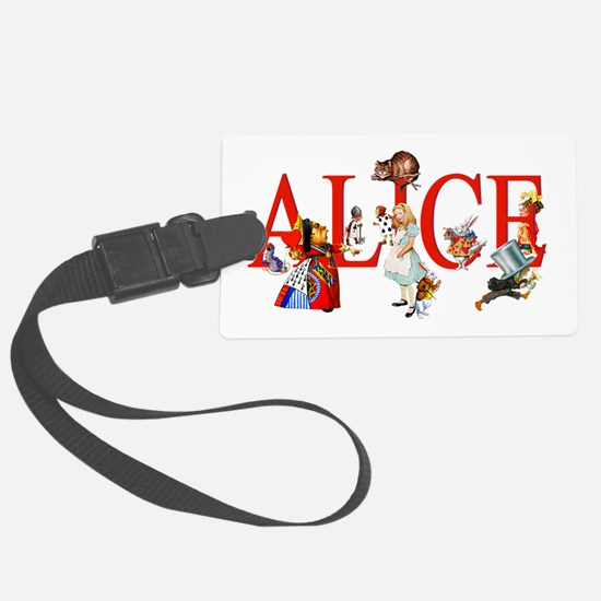 Alice and Her Friends in Wonderl Luggage Tag