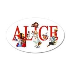 Alice and Her Friends in Won 35x21 Oval Wall Decal