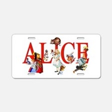 Alice and Her Friends in Wo Aluminum License Plate