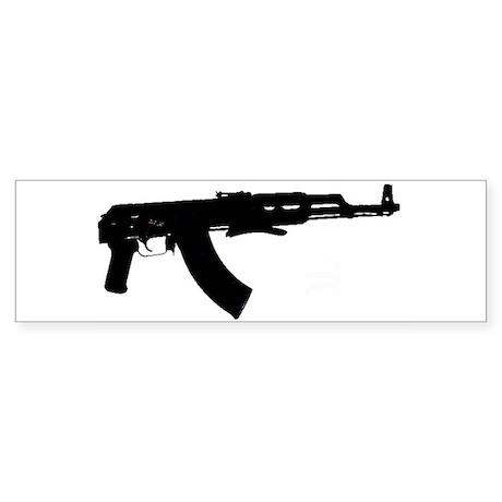 AK47 Underfolder Sticker (Bumper) Sticker (Bumper)