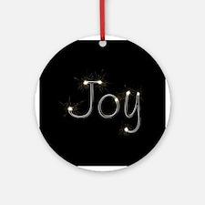 Joy Spark Ornament (Round)