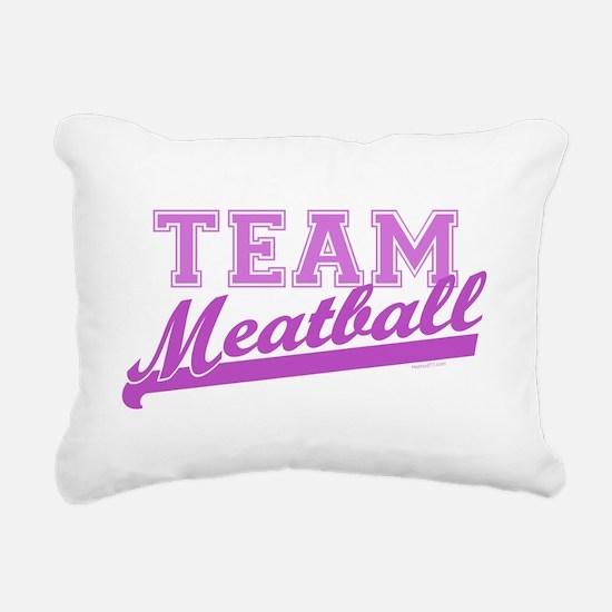 Team Meatball.png Rectangular Canvas Pillow