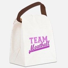Team Meatball.png Canvas Lunch Bag
