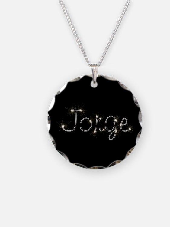 Jorge Spark Necklace Circle Charm