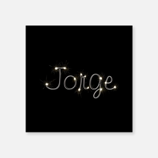 "Jorge Spark Square Sticker 3"" x 3"""