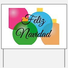 Feliz Navidad Spanish Christmas Yard Sign