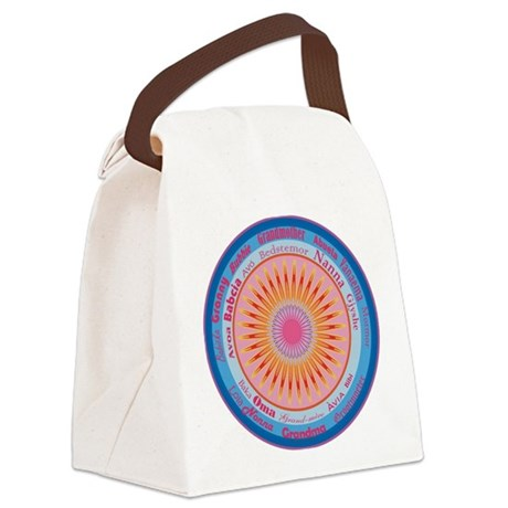 Grandmother World Canvas Lunch Bag