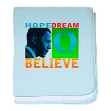 "Obama ""Believe"" baby blanket"