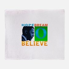 "Obama ""Believe"" Throw Blanket"