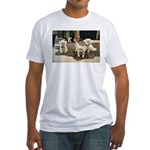 BLACK TIE BICHONS FITTED T-SHIRT