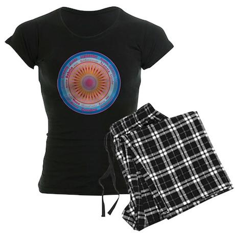 Grandmother World Women's Dark Pajamas