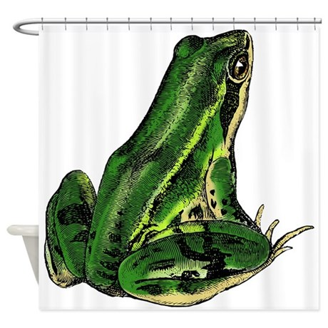 Green Frog Shower Curtain By CheekyGeek