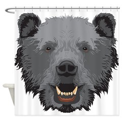 Bear Head Shower Curtain