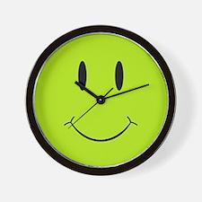 Happy Green Face Wall Clock