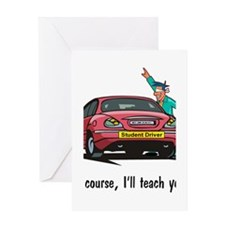 driver training Greeting Cards
