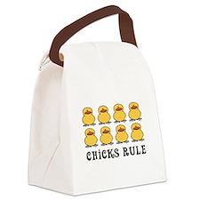 Cute Girls rule Canvas Lunch Bag