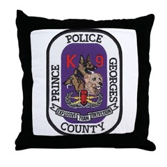 Prince Georges k9 Bomb Throw Pillow