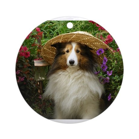 Girl In a Hat Ornament (Round)