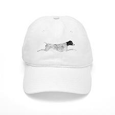 Black & White Leaping GSP Baseball Cap