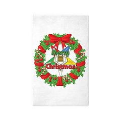 OES Christmas Wreath 3'x5' Area Rug