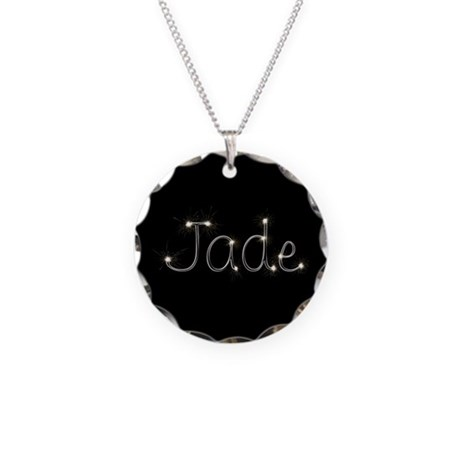 Jade Spark Necklace Circle Charm