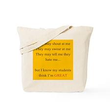 Im Great YELLOW Tote Bag