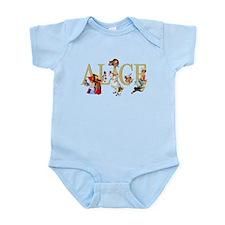Alice and Her Friends in Wonderlan Infant Bodysuit
