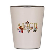 Alice and Her Friends in Wonderland Shot Glass