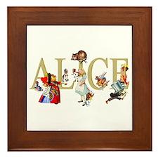 Alice and Her Friends in Wonderland Framed Tile