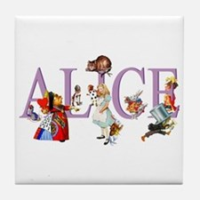 Alice and Her Friends in Wonderland Tile Coaster