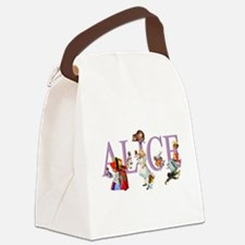 Alice and Her Friends in Wonderla Canvas Lunch Bag