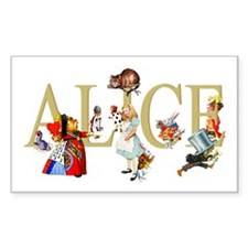 Alice and Her Friends in Wonde Decal