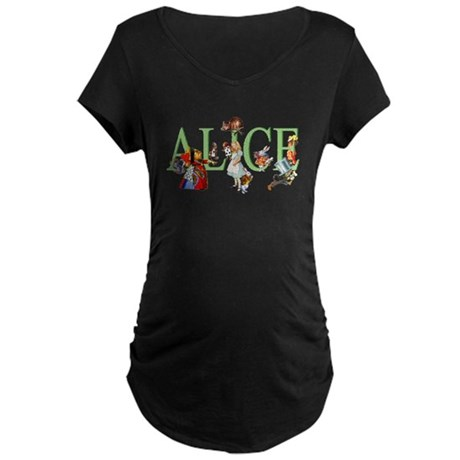 Alice and Her Friends in Wo Maternity Dark T-Shirt