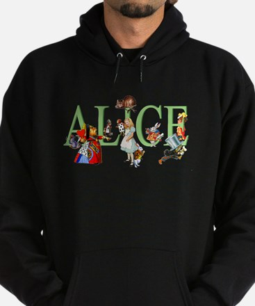 Alice and Her Friends in Wonderland Hoodie (dark)