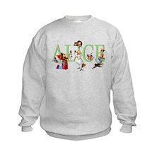 Alice and Her Friends in Wonderlan Sweatshirt