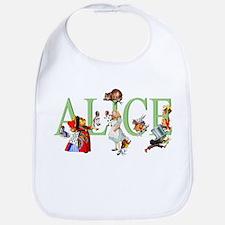 Alice and Her Friends in Wonderland Bib