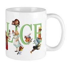 Alice and Her Friends in Wonderland Small Mugs