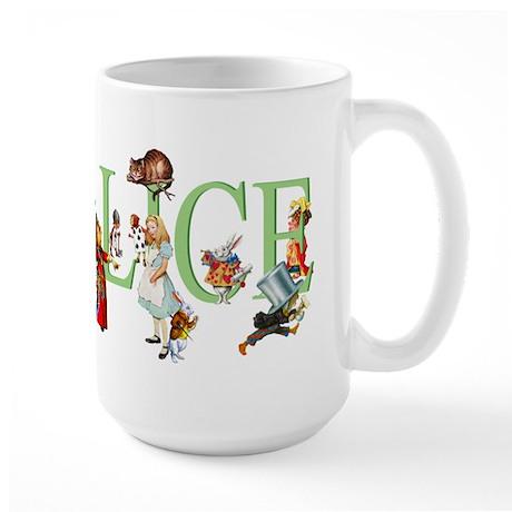 Alice and Her Friends in Wonderland Large Mug