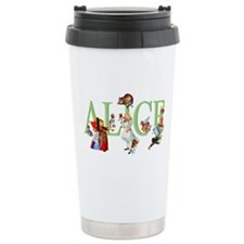 Alice and Her Friends i Travel Coffee Mug